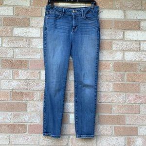 NYDJ Clarissa Ankle Jeans Lift Tuck Med blue. Sz10